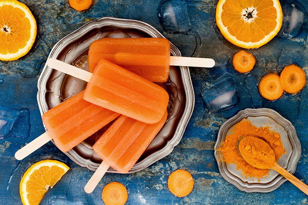 Tumeric and orange pops